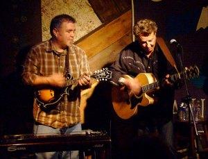 on mandolin with robert at godfrey's