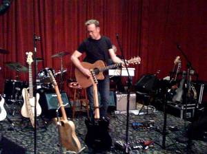 john lilley during soundcheck at the auction house