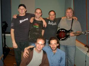 with jim salamone, karma parking, and an oversized octave mandolin