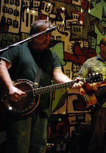 a rare banjo shot, steel city in phoenixville