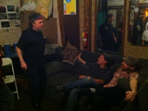 listening to our patriarch, david nelson, weaving tales backstage during the tour