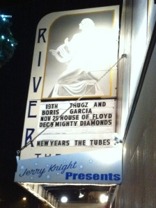 the marquee at the river theater