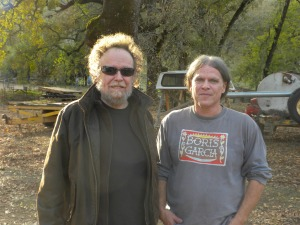 david nelson with bob stirner at The Barn.